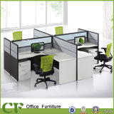 Fabric&Glass Partition Office Computer Staff Table