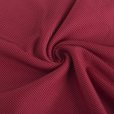 Cationic Striped 100% Polyester Knitting Fabric with Wicking Finish for Sprots Wear