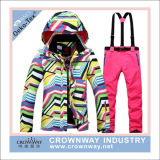 All Over Printing Outdoor Ski Suit Ski Jacket Ski Pant