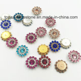 2017 New Arrival Wholesale 9mm Loose Swaro Crystals Flower Claw Setting Sew on Glass Beads (TP-9mm fuchsia round)