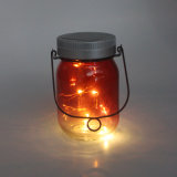 LED Solar Firefly Jar Rice Lights for Christmas