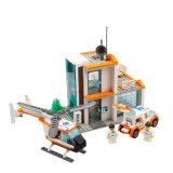 14885007-450PCS Hospital Rescue Center Building Blocks Action & Toy Figures Helicopter Car Model