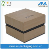 Customized Jewellery Gift Luxury Ring Packing Wooden Like Packaging Box with Embossing