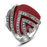 Hot Sale Zinc Alloy Accessory Statement Ring with Crystal