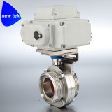 Hygienic Electric Actuated Tri Clover Butterfly Valves Stainless Steel 304 316