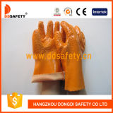 Ddsafety 2017 Chemical Work Gloves, Orange PVC Gloves