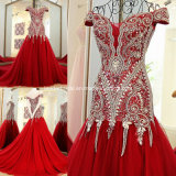 Crystals Evening Gown Customized Mermaid Beading Prom Dresses E15901