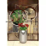Shopping Mall Indoor Decorative Flower Pot 304 Stainless Steel Material