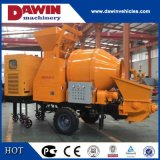 30m3/Hr Diesel Trailer Concrete Mixer Pump with 450L Drum