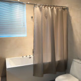 Gray Color 100% Polyester Shower Curtain for Bathroom