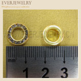 12mm Round Metal Brass Eyelet with Crystal Rhinestone