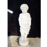 Customized Hand Carved Child White Stone Baby Statue for Sale