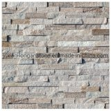 Beige Quartz Wall Decoration Stacked Ledge Culture Stone for Wall Stone Panel