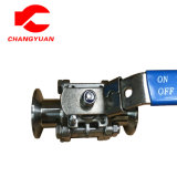 Sanitary Stainless Steel Three Piece Clamped Ball Valve