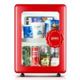 Retro Design 20L Glass Door Small Refrigerator Mini Compressor Fridge