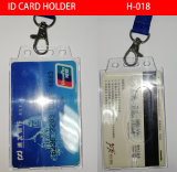 ID Card Holder with Lanyard, Plastic Card Holder