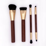 Premium Nylon Synthetic Hair Powder Foundation Eye Lip Wooden Handle Cosmetics Makeup Brush Set
