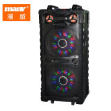 Professional Active Portable Powered Double 15inch Bluetooth Music Tower Speaker