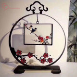 Hand Made Su Embroidery Decoration Art and Craft Ironart Double Screen