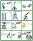 Electroplated Zinc Brass Alloy Sanitary Accessory Taps Parts Faucet Handle