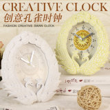 Wholesale Beautiful Peacock Style Alarm Clock, Table Clock