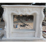 White Sculpture Marble Fireplace (SY-MF042)