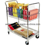 Adjustable Metal Basket Rack /Basket Trolley for File/Paper Storage (TR753590A2CW)