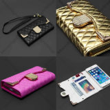 Lattice Chain Style Universal Flip PU Leather Wallet Cell for iPhone Case