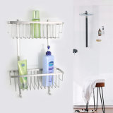 Sanitary Ware SUS304 Double Corner Shower Basket Bathroom Accessories