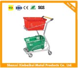 Warehouse Double-Deck Hand Trolley, Suitable for Heavy-Duty Material Handling