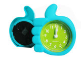 Kid′s Promotional Creative Colorful Round Mini Silicone Alarm Clock