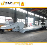 SINOMTP 60Tons Front Loading Low Bed Semi Trailer with Hydraulic Gooseneck