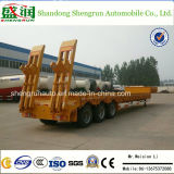 3 Axles Low Bed Flatbed Utility Cargo Semi Truck Trailer