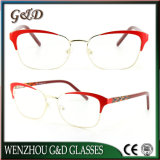 New Design Metal Glasses Eyewear Eyeglass Optical Frame Double Color 9019