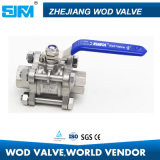 3PC DIN Ball Valve Screw End with ISO5211