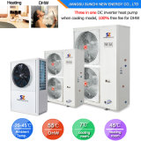 Save 70% Power Cop3.62 2.5kw 150L, 3.5kw 200L 220V Max 60c Hot Water Dhw All in One Heat Pump Water Heater