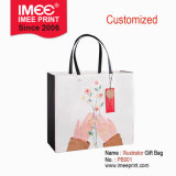 Imee in Stock & Custom Hand Drawing Cartoon Illustrator Design Cmyk Printing Handle 250g White Cardboard Ivory Board Art Post Paperboard Gift Paper Bag