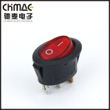 Oval Rocker Switch with/Without Light Pass Ce RoHS TUV