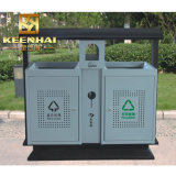 Keenhai Recycle Outdoor Commercial Metal Trash Can