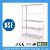 Home-Style Chrome Steel Wire Shelving Storage Rack