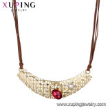 Necklace-00639 Fashion Female Silver Color Rhodium Plated Necklace Jewelry