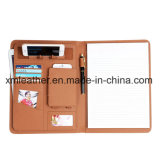 PU Leather Design File Folder Phone Holder A4 Size Folder with Phone Case