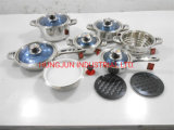 Strong Handles of 16PCS Stainless Steel Cookware Packing in Suitcase Packing