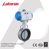Wenzhou Supplier CF8 Wafer Pneumatic Butterfly Valve