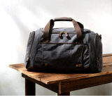 Leather Canvas Big Capacity Gym Duffel Bag (RS-9153)