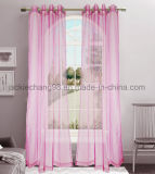 Solid Sheer Rod Pocket Panel Window Curtain
