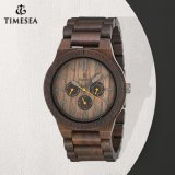 High Quality Nutural Wood Made Men′s Wrist Watch 72373
