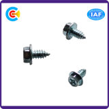 Carbon Steel Cross/Phillips Hexagon Head Self-Tapping Screw with Flange