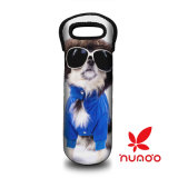 Puppy Pug Neoprene Wine/Water Bottle Tote Bag