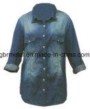 Ladies' 100% Cotton Denim Long Sleeve Shirt WH1007